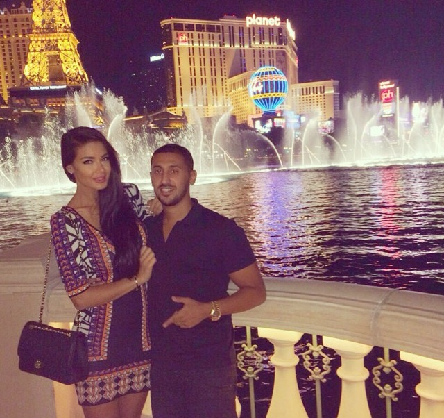 Mariam Rod and her husband in Las Vegas